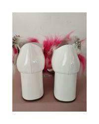 Sandalias en pelo sintético multicolor Miu Miu de color Pink