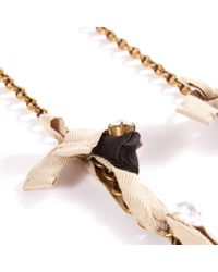 Miu Miu Metallic \n Gold Metal Necklace