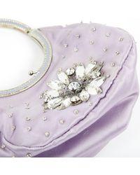 Bolsa de mano en lona violeta Valentino de color Multicolor