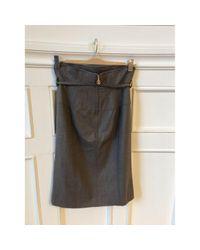 Roberto Cavalli Gray \n Grey Wool Skirt