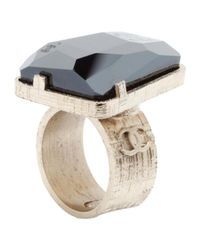 Chanel - Metallic Pre-owned Gold Metal Ring - Lyst