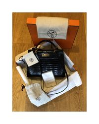 Hermès Black Kelly 32 Krokodil Handtaschen