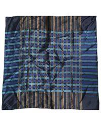 Chèches.Echarpes \N en Soie Dior pour homme en coloris Blue