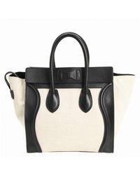 Céline Black Luggage Leder Shopper