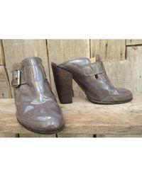 Dries Van Noten \n Purple Patent Leather Mules & Clogs