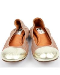 Ballerines en cuir Lanvin en coloris Brown