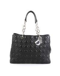 Bolsa de mano en cuero negro Dior de color Black