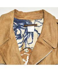 Roberto Cavalli Natural \n Camel Leather Jacket for men