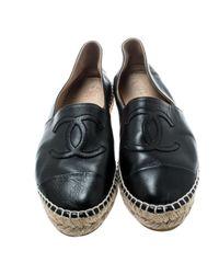 Mocassins en Cuir Noir Chanel en coloris Black