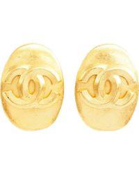 Pendientes CC Chanel de color Metallic