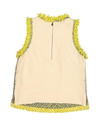 Top en Coton Jaune Louis Vuitton en coloris Multicolor
