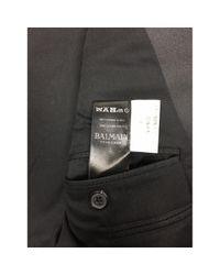 Balmain Wolle Jacke in Black für Herren