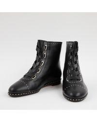 Aquazzura Black Leather Ankle Boots
