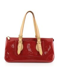 Bolsa de mano en charol rojo Rosemood Louis Vuitton de color Red
