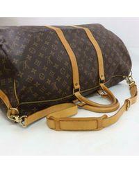 Louis Vuitton Brown Keepall Leinen 48 Std/ Tasche