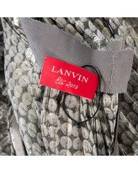 Lanvin Metallic Pre-owned Silk Maxi Skirt