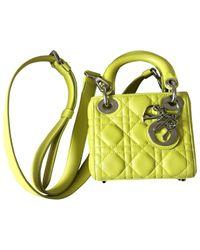 Dior Yellow Lady Leder Handtaschen