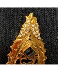 Broche en chapado en oro dorado \N Dior de color Multicolor