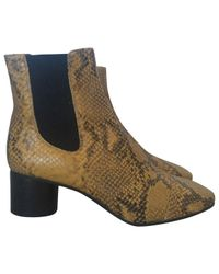 Isabel Marant - Brown Pre-owned Leather Ankle Boots - Lyst