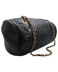 Chanel - Black Pre-owned Leather Crossbody Bag - Lyst