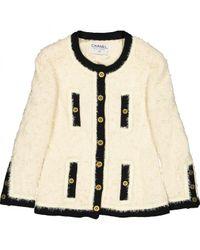 Blouson en laine Chanel en coloris Natural