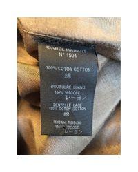 Vestido en algodón caqui Isabel Marant de color Multicolor