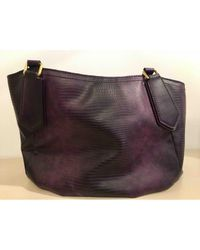 Marc By Marc Jacobs Pre-owned Purple Leather Handbag