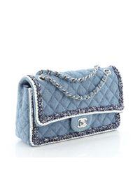 Chanel Blue Timeless/classique Leder Handtaschen