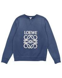 Loewe Blue Cotton Knitwear
