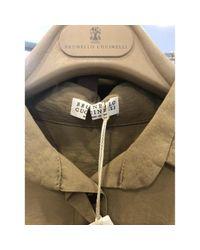 Monos en algodón marrón Brunello Cucinelli de color Brown