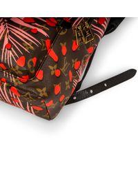 Mochila en lona multicolor Palm Springs Louis Vuitton de color Red
