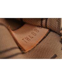 Borsa a mano in tela marrone Neverfull di Louis Vuitton in Multicolor