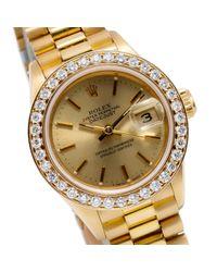 Orologio in oro giallo dorato Lady DateJust 26mm di Rolex in Metallic
