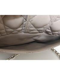 Bolso Miss de Cuero Dior de color Gray