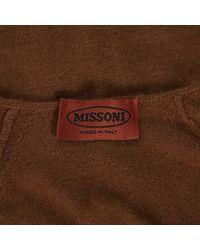 Pull-over en laine Missoni en coloris Brown