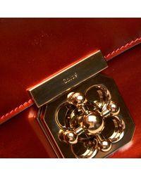 Bolsa de mano en charol burdeos Elsie Chloé de color Red