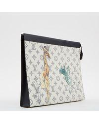 Piccola pelletteria in tela ecru di Louis Vuitton in Multicolor da Uomo