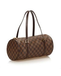 Louis Vuitton Brown Pre-owned Papillon Cloth Handbag