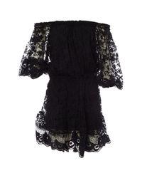 Chloé Black Spitze Midi Kleid