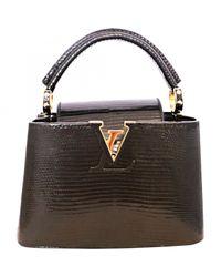 Louis Vuitton Black Capucine Lizard Crossbody Bag