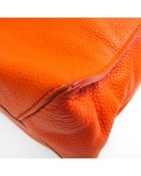 Miu Miu Orange Leder Shopper