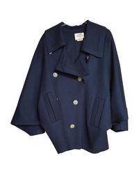 Hermès Pre-owned Vintage Blue Wool Jackets