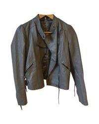 IRO Gray Grey Leather Leather Jacket