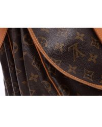 Louis Vuitton Brown Saumur Leinen Handtaschen