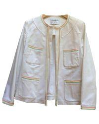 Chanel White Cotton Jacket