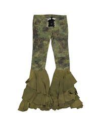 Jeans \N en Coton Kaki Balmain en coloris Green