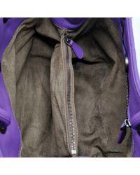 Bottega Veneta Purple Leder Baguette Tasche