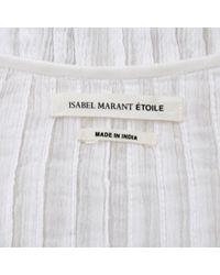 Camisa en algodón blanco Étoile Isabel Marant de color White