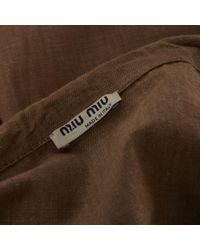 Miu Miu \n Brown Linen Jacket