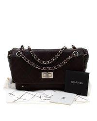Bolsa de mano en cuero marrón Chanel de color Brown